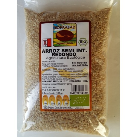 ARROZ  REDONDO SEMI INTEGRAL 1000 GR.